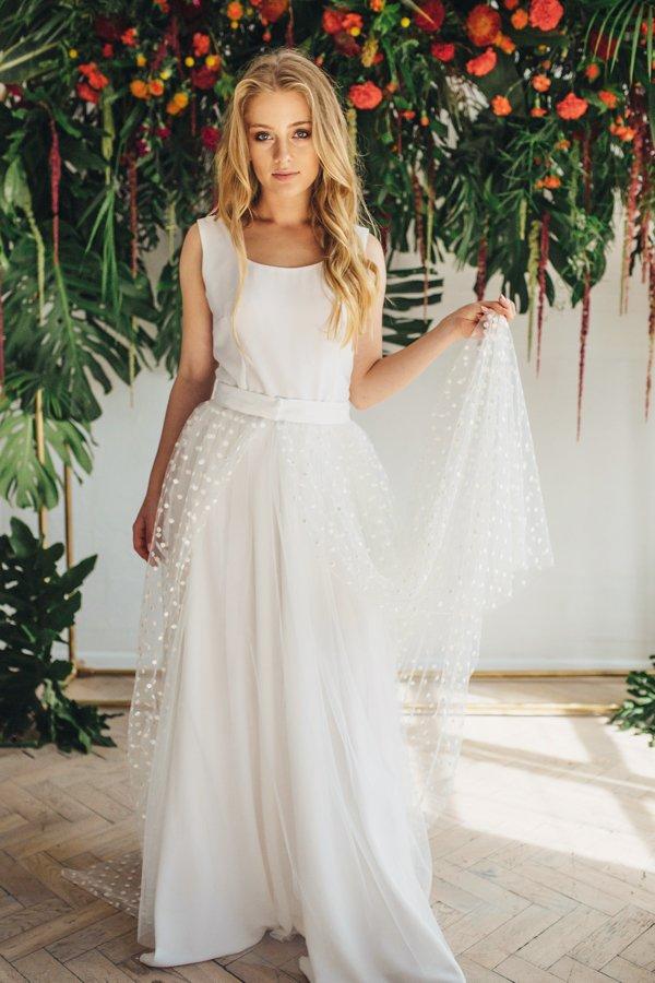 Sukienki ślubne - Boso - Kazumi z dodatkową spódnicą