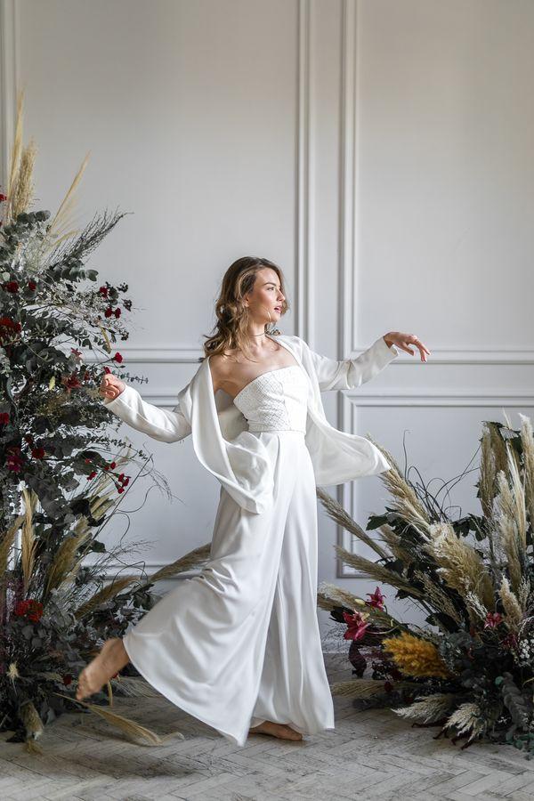 Sukienki ślubne - Boso - Amaka z topem i marynarką